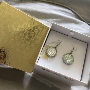 Michael Kors diamond silver earrings
